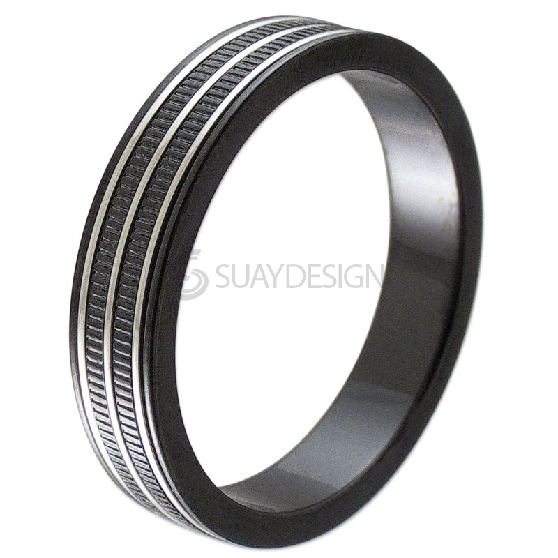Black Steel 5mm Spinning Ring